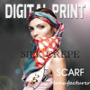 Lenço de seda de seda feminino de seda cachecol impresso digital (X1010)