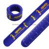 Silicone colorido personalizado Slap Bracelete Régua