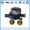 Dn15mm Multi Jet Dry Dail Water Meter of Iron Body, couverture en laiton et ajustement en laiton