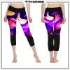 도매는 인쇄한 패턴 여자 운동복 Capri 요가 바지를 주문을 받아서 만들었다