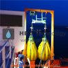 sacos enchidos água do peso 5t para o teste de carga do guindaste e do turco