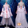 Il cuore del costume bianco di Cosplay del vestito dalla Alice del coniglio della Pandora