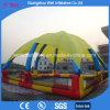 Piscina inflable con la tienda para jugar el barco de paleta de las bolas del agua que recorre