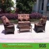 Dunkle Rattan-Stuhl-Möbel des Brown-Weidensofa-Stuhl-Set/PE runde