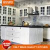 Armário de cozinha design branco da estrutura da porta de vidro