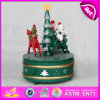2015 Juguete de madera del carrusel de la caja de música para niños, caballo del carrusel de la caja de música de madera de niños Música Juguete del carrusel para Navidad W07b011A