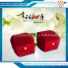 Caja de embalaje de la pequeña joyería redonda barato roja del terciopelo de la fábrica