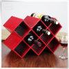 Rectángulos de almacenaje de cuero personalizados de la PU Brown con las tapas