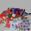 カスタマイズされたクリスマスのクラフトによって印刷されるクラフト紙のショッピングギフト袋