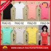 V T-shirt blanc de modèle simple de collet pour des filles