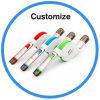 TPEflaches einziehbares USB-Kabel mit Mikro-USB und Blitz8 Pin-Verbinder