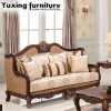 Home Furniture를 위한 Wood Frame를 가진 고대 거실 Sofa 미국 Fabric Couch