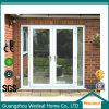 Portello scorrevole di vetro del patio di stile francese di alluminio per il progetto