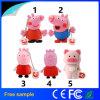 regalo de promoción de dibujos animados personalizados Peppa Pig unidad Flash USB 4GB
