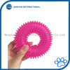 Durable Dog Squeaky Chew Toys for Aggressive Chewers Dental Teeth Mouth Cleaning Treinando e Jogando [Non-Toxic Soft Rubber], Cute Crystal TPR Ring Design