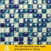 Mosaico de cristal azul y blanco en dimensión de una variable de la burbuja