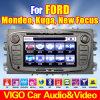 Reproductor de DVD GPS del coche para Ford Focus Mondeo Kuga (VFF6504)
