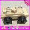 2016 Venda por atacado brinquedo do tanque de madeira, DIY pintado brinquedo do tanque de madeira das crianças, crianças engraçadas brinquedo do tanque de madeira W03A081