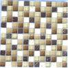石造りの組合せのクリスタルグラスのモザイク・タイル(HGM229)
