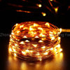 Xmasの花輪党結婚式の装飾のクリスマスのための10m 100 LED 3xaa電池LEDストリングライト