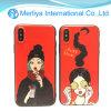 Weicher TPU Shockproof Telefon-Kasten des Karikatur-Mädchen-für iPhone X