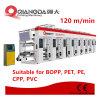 Mehrfarbenfarben-Seiten-Plastiknicht gesponnene Hochgeschwindigkeitsgravüre-Drucken-Maschine