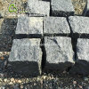 Piedra de pavimento de granito negro de basalto, calzada Cobblestone