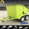 Acoplado del compartimiento de basura del precio de Competative con el suelo de la placa del inspector