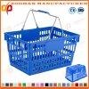 Niedriger Preis Soem-Produktions-Plastikspeicher-Supermarkt-Einkaufskorb (Zhb113)