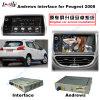 Interface vidéo multimédia HD automatique Navigateur GPS Android pour (13-16) Peugeot 2008 Support Google Map / Igo / TV