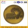 Moneda antigua del desafío del metal del chapado en oro