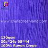 prodotto di tintura intessuto Crepe 100%Rayon per la camicetta (GLLML374)