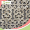 Spitze Strim Nylon und PU-Aufbau-Stickerei-Spitze-Gewebe
