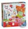 Бумажная головоломка зигзага детей шаржа с изготовленный на заказ печатание