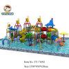 Открытый бассейн, игровая площадка и детский слайдов Трубы пластиковые трубы, водные горки слайдов