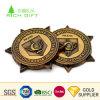 Qualitäts-kundenspezifisches Metall das Druckguss-Hieb-Firmenzeichen-Antike-Gold, das seltene alte Münze mit montierendem Kasten beschichtet