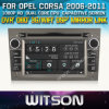 Opel Corsa (W2-D8828L)를 위한 GPS를 가진 Witson Car Rd Front DVR Capactive Screen OBD 3G WiFi Bluetooth RDS