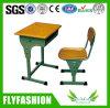 Únicas mesa da escola e mobília baratas médias de madeira da sala de aula da cadeira