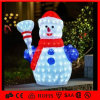옥외 LED Acrylic Christmas Decoration Light 3D Snowman