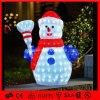 Boneco de neve acrílico ao ar livre da luz 3D da decoração do Natal do diodo emissor de luz