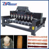 Máquina de grabado de madera del CNC de 4 husos del eje 8