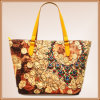Maschera Printed Linen Bag per Shopping