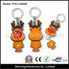 Disco del USB de los ciervos de la Navidad del PVC en la llave (PVC-CS008)