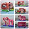 膨脹可能なFire Fighting Truck Combo、KidsおよびAdults B3092のためのInflatable Jumping Bouncer