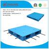 Produtos de armazém 1100*1100*150mm paletes de plástico de HDPE Pesado de duas faces planas 1,5T paletes plásticos de carga de rack com 8 tubos de aço