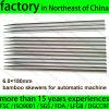 6.0X180mm Brocheta de bambú sin junta para el uso automático de la máquina de barbacoa