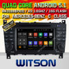 Witson Android 5.1 Car DVD GPS para Mercedes-Benz Classe C W203 (2004-2007) com Chipset 1080P 16g ROM WiFi 3G Internet DVR Support (A5517)