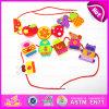 2015 Happy di legno Threading Toys per Kids, Children DIY Hand Threading Toy, Threading Educational Kids Wooden Blocks Toy W11e041