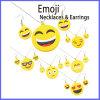 Способ Zinc Alloy Emoji Necklaces и ювелирные изделия Set серег
