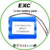 2016 최신 판매 18650 6600mAh 3.7V 재충전용 리튬 건전지 팩